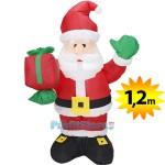Φουσκωτός Άγιος Βασίλης 1,20m - Χριστουγεννιάτικος Διακοσμητικός Άη Βασίλης