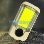 Διπλός Μίνι Επαναφορτιζόμενος Φακός Εργασίας COB LED με Διακόπτη Dimmer, 4 Λειτουργίες Φωτισμού, Μαγνήτη & Βάση Στήριξης - USB Working Lamp