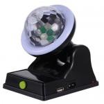 Επαναφορτιζόμενο Ηλιακό LED Effect Φωτορυθμικό - DJ Crystal Ball Multifunctional Table Lamp