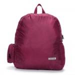 Αναδιπλούμενο Αδιάβροχο Σακίδιο Πλάτης Μπορντώ για Κάμπινγκ & Ταξίδια 20L Travel Plus Folding Backpack - Χωράει στην Τσέπη σας