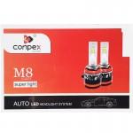 Εμπρόσθια Φώτα Αυτοκινήτου 9000LM (2x4500lm) 9006 LED FULL CANBUS 90W (2x45w) 6500K Λαμπτήρες CONPEX M8 2τμχ