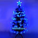 Εντυπωσιακό Χιονισμένο Χριστουγεννιάτικο Δέντρο Οπτικής ίνας LED 180εκ. Blue Light με 8 Προγράμματα Fiber Optic Christmas Tree