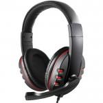 Ρυθμιζόμενα Gaming Ακουστικά On Ear Κεφαλής με Μικρόφωνο & Jack 3.5mm - PC PS4 Headset Κόκκινο