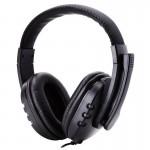 Ρυθμιζόμενα Gaming Ακουστικά On Ear Κεφαλής με Μικρόφωνο & Jack 3.5mm - PC PS4 Headset Μαύρα