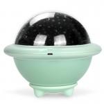 Περιστρεφόμενο Νυχτερινό Φωτιστικό Προτζέκτορας Δωματίου με 3 Σχέδια - UFO Projection Lamp Πράσινο