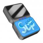 Retro Arcade Κονσόλα 893 Games με Joystick - Φορητή Μίνι Ρετρό Παιχνιδομηχανή Ψηφιακό Game Box Power LED Μπλε