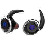 Αδιάβροχα Ασύρματα Ακουστικά Bluetooth Αφής TWS V4.2 - AWEI Wireless Headset Handsfree Ασημί