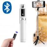 Ασύρματο 360ᵒ Bluetooth Πτυσσόμενο Μπαστούνι Κινητού 67cm & Τρίποδο για Selfie Φωτογραφίες με Χειριστήριο - Wireless Mini Tripod Selfie Stick Λευκό