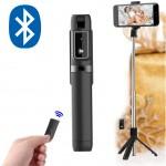 Ασύρματο 360ᵒ Bluetooth Πτυσσόμενο Μπαστούνι Κινητού 67cm & Τρίποδο για Selfie Φωτογραφίες με Χειριστήριο - Wireless Mini Tripod Selfie Stick Μαύρο