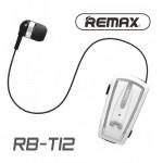 Ασύρματο Ακουστικό με Κλιπ & Επεκτεινόμενο Καλώδιο - Handsfree Bluetooth Remax Silver