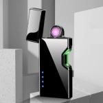 Επαναφορτιζόμενος Αντιανεμικός Arc Αναπτήρας με Αισθητήρα Λέιζερ - Plasma Arc Lighter USB Black