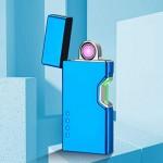 Επαναφορτιζόμενος Αντιανεμικός Arc Αναπτήρας με Αισθητήρα Λέιζερ - Plasma Arc Lighter USB Blue