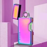 Επαναφορτιζόμενος Αντιανεμικός Arc Αναπτήρας με Αισθητήρα Λέιζερ - Plasma Arc Lighter USB Pink