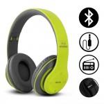 Ασύρματα & Ενσύρματα On-Ear Αναδιπλούμενα Ακουστικά Bluetooth, Aux, Handsfree - Wireless Headphones Πράσινο