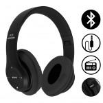 Ασύρματα & Ενσύρματα On-Ear Αναδιπλούμενα Ακουστικά Bluetooth, Aux, Handsfree - Wireless Headphones Μαύρο