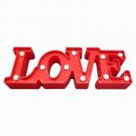 Διακοσμητικό  Επιτραπέζιο Φωτιστικό LED Love Κόκκινο