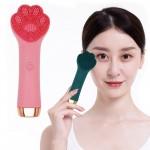 Βούρτσα Σιλικόνης με Επιδερμικούς Ηχητικούς Παλμούς για Άψογο Καθαρισμό & Μασαζ Προσώπου USB - Cat Claw Cleanser Ροζ