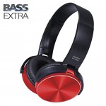 Ασύρματα On-Ear Super Bass Ακουστικά Bluetooth με Aux, SD/TF, FM Radio - Wireless Stereo Headphones Κόκκινο