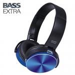 Ασύρματα On-Ear Super Bass Ακουστικά Bluetooth με Aux, SD/TF, FM Radio - Wireless Stereo Headphones Μπλε