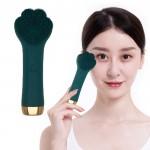 Βούρτσα Σιλικόνης με Επιδερμικούς Ηχητικούς Παλμούς για Άψογο Καθαρισμό & Μασαζ Προσώπου USB - Cat Claw Cleanser Πράσινο