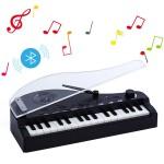 Μίνι Παιδικό Bluetooth Πιάνο Πολυλειτουργικό - Ηχείο & LED Φωτιστικό Αφής - Mini Bluetooth Audio Night Light Piano Μαύρο