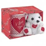 Κούπα - Λούτρινο Αρκουδάκι I Love You 330ml