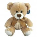 Λούτρινο Αρκουδάκι Καφέ Φιογκάκι - Teddy Bear 24cm