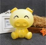Επιτραπέζιο Παιδικό Φωτιστικό - Πορτατίφ - Φωτάκι Νυκτός Γουρουνάκι Κίτρινο LED