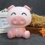 Επιτραπέζιο Παιδικό Φωτιστικό - Πορτατίφ - Φωτάκι Νυκτός Γουρουνάκι Ροζ LED
