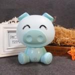Επιτραπέζιο Παιδικό Φωτιστικό - Πορτατίφ - Φωτάκι Νυκτός Γουρουνάκι Γαλάζιο LED