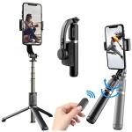 Gimbal Stabilizer Πτυσσόμενο Μπαστούνι Κινητού 76cm & Τρίποδο για Selfie Φωτογραφίες με Αποσπώμενο Χειριστήριο - Q08