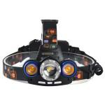 Αδιάβροχος Τριπλός Φακός Κεφαλής MX-117-T6 90° 1000LΜ Υψηλής Φωτεινότητας με Ρυθμιζόμενη Δέσμη Φωτός CREE T6 LED