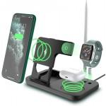Σταθμός - Βάση Ασύρματης Φόρτισης Πολλαπλών Συσκευών Apple 4 σε 1 - Wireless Charger OW-01