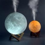 Φωτιστικό Moon Light & Υγραντήρας 15cm με 3 Χρωματισμούς LED Αφής - Led Light Humidifier