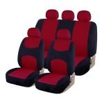 Πλήρες Σετ 8 Τεμαχίων Universal Προστατευτικά Υφασμάτινα Καλύμματα Καθισμάτων Αυτοκινήτου Μαύρα-Κόκκινα 54152 OEM
