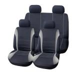 Πλήρες Σετ 8τμχ Universal Υφασμάτινα Προστατευτικά  Καλύμματα Καθισμάτων Αυτοκινήτου Ανθρακί-Γκρι 54157 OEM