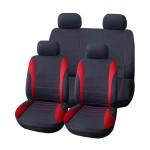 Πλήρες Σετ 8τμχ Universal Υφασμάτινα Προστατευτικά Καλύμματα Καθισμάτων Αυτοκινήτου Ανθρακί-Κόκκινα 54158 OEM