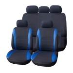 Πλήρες Σετ 8τμχ Universal Υφασμάτινα Προστατευτικά Καλύμματα Καθισμάτων Αυτοκινήτου Ανθρακί-Μπλε 54159 OEM