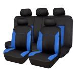 Πλήρες Σετ 8τμχ Universal Προστατευτικά Υφασμάτινα Καλύμματα Καθισμάτων Αυτοκινήτου Μαύρα-Μπλε 54171 OEM