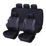 Πλήρες Σετ 8 Τεμαχίων Προστατευτικά Υφασμάτινα Καλύμματα Καθισμάτων Αυτοκινήτου Μαύρα 54172