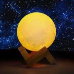 Επαναφορτιζόμενο 3D Moon Lamp Ανάγλυφο Φωτιστικό Αφής Φεγγάρι LED Light 15cm με 3 Αποχρώσεις