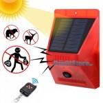 Ηλιακός Συναγερμός & Απωθητής Ζώων Εξωτερικού Χώρου με Αισθητήρα Κίνησης & Τηλεχειρισμό Andowl - Κόκκινο