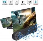Πτυσσόμενη Βάση 3D για Μεγένθυση Οθόνης & Ηχείο Bluetooth - Phone Screen Amplifier - Mobile Home Theater 12.0 inch Μαύρο