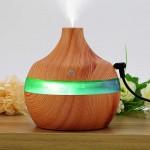 Μίνι Υγραντήρας Υπερήχων & Αρωματοθεραπείας με LED Φωτισμό Αφής - USB Mini Atomization Humidifier Ανοιχτό Καφέ