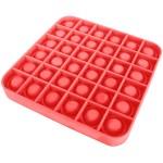 Αγχολυτικό Παιχνίδι Anti-Stress Ανακούφισης - Fidget Bubble Pop Τετράγωνο Κόκκινο