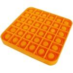Poppy Αγχολυτικό Παιχνίδι Anti-Stress Ανακούφισης - Fidget Bubble Pop Τετράγωνο Πορτοκαλί