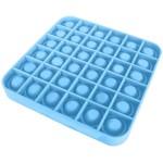 Poppy Αγχολυτικό Παιχνίδι Anti-Stress Ανακούφισης - Fidget Bubble Pop Τετράγωνο Μπλε