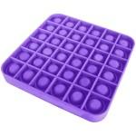 Αγχολυτικό Παιχνίδι Anti-Stress Ανακούφισης - Fidget Bubble Pop Τετράγωνο Μωβ