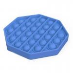 Αγχολυτικό Παιχνίδι Anti-Stress Ανακούφισης - Fidget Bubble Pop Πολύγωνο Μπλε