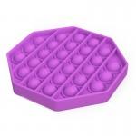 Αγχολυτικό Παιχνίδι Anti-Stress Ανακούφισης - Fidget Bubble Pop Πολύγωνο Μωβ